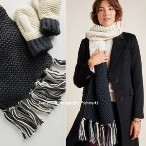 ANTHROPOLOGIE Marcella Colorblocked Scarf